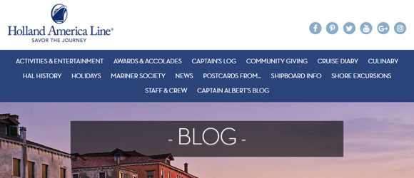 The Holland America Blog is produced and managed by NewmanPR for Holland America Line