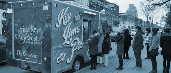 The Key Lime Pie Truck was a marketing campaign for the Florida Keys & Key West