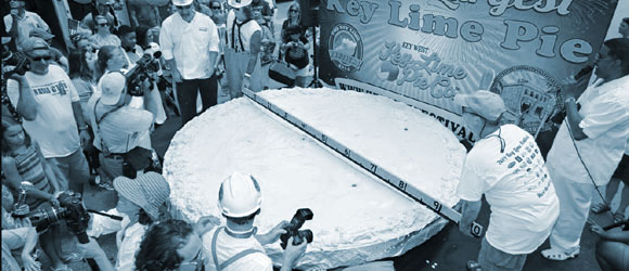 The world's largest Key lime pie was a marketing campaign for the Florida Keys