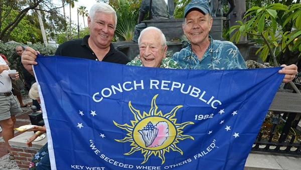 Stuart Newman and Conch Republic representatives in the Florida Keys